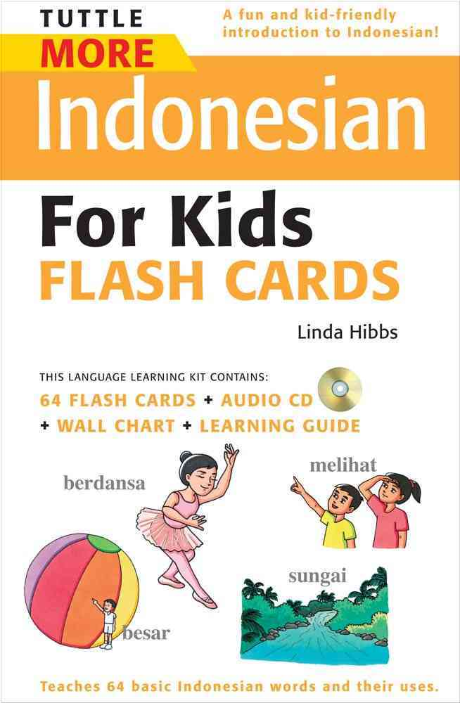 Tuttle More Indonesian for Kids Flash Cards Kit (Cards)