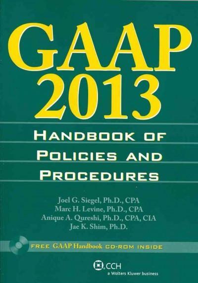 GAAP Handbook of Policies and Procedures 2013
