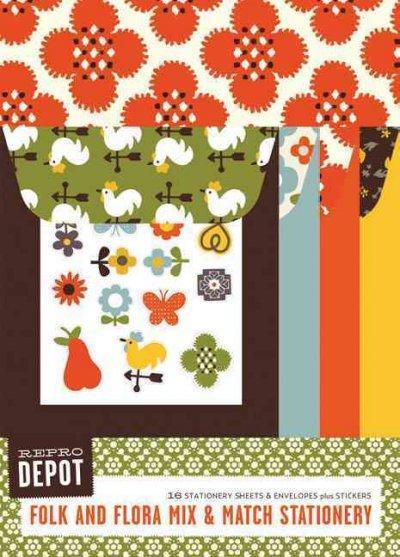 Reprodepot Folk and Flora Mix & Match Stationery: 16 Stationery Sheets & Envelopes (Cards)