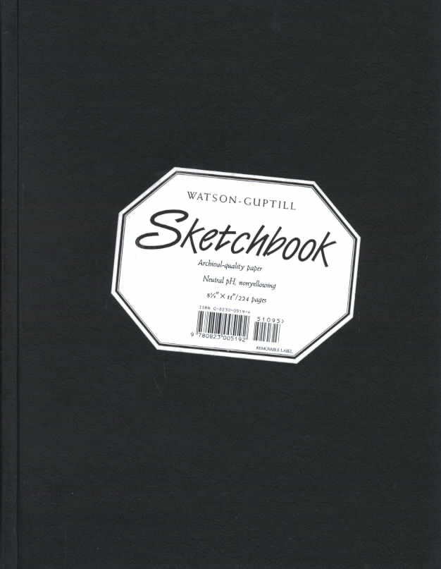 Watson-Guptill Sketchbooks: Black/Large (Hardcover)