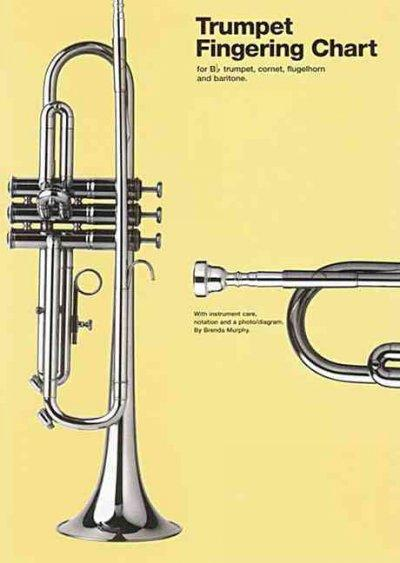 Trumpet Fingering Chart: For B Flat Trumpet, Cornet, Flugelhorn and Baritone (Wallchart)