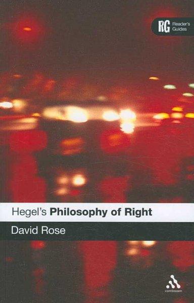 Hegel's 'Philosophy of Right': A Reader's Guide (Paperback)