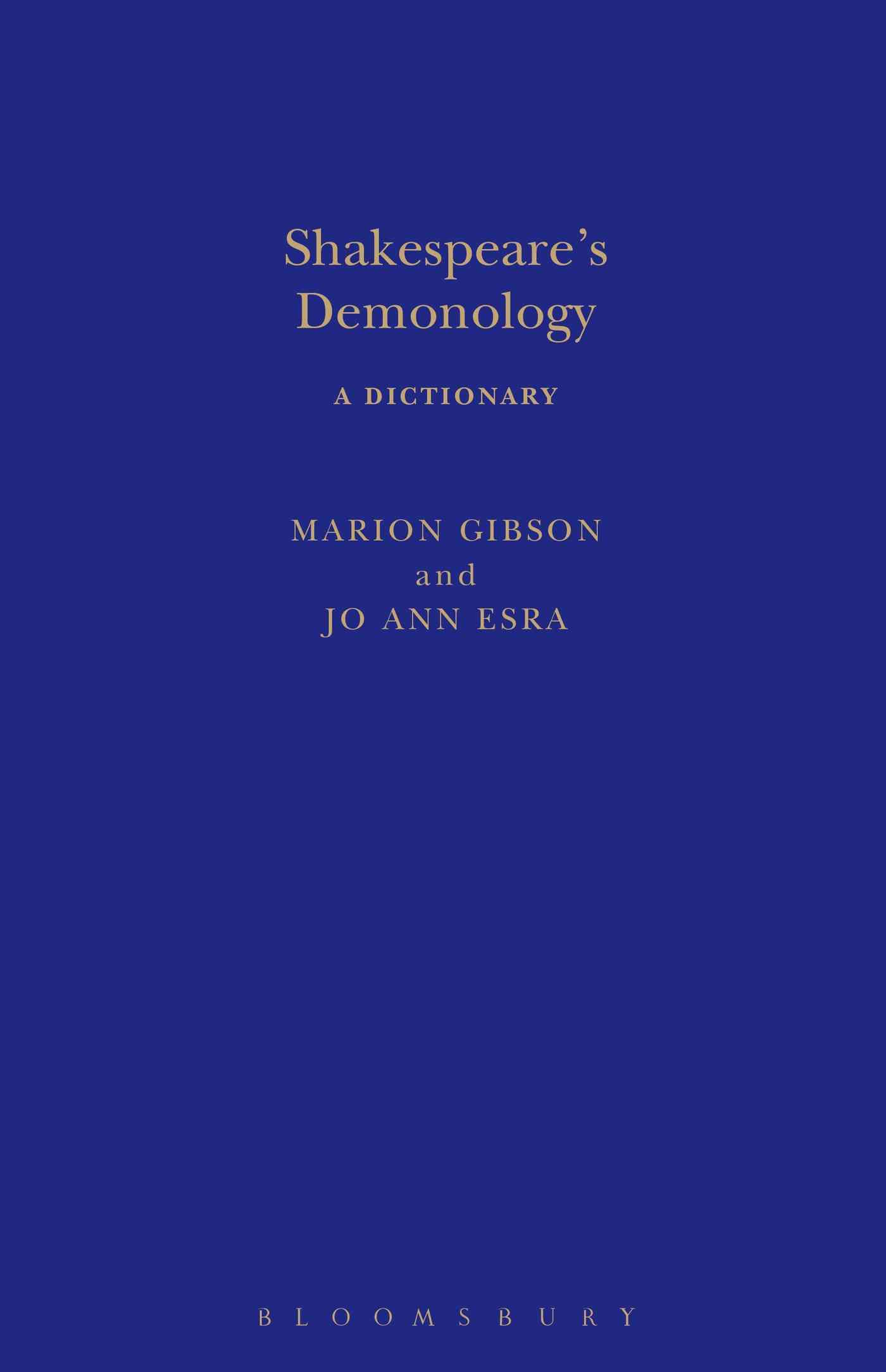 Shakespeare's Demonology: A Dictionary (Hardcover)