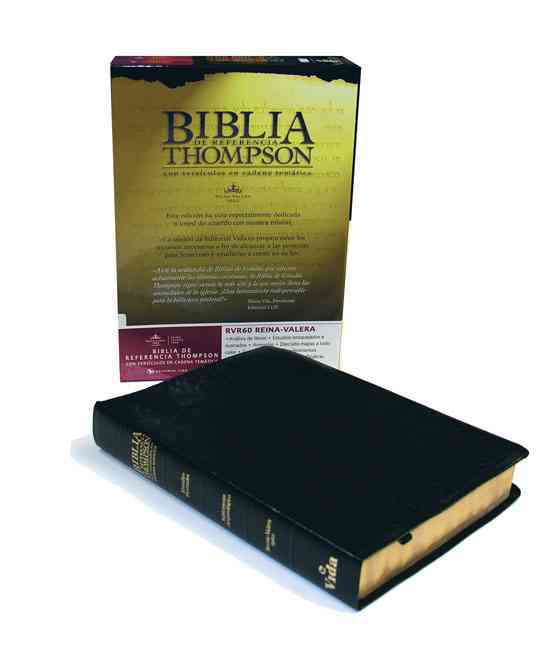 Biblia De Referencia Thompson Con Versiculos En Cadena Tematica: Reina-Valera Black Imitation Leather (Paperback)