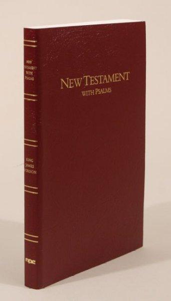 New Testament With Psalms: King James Version, Burgundy Imitation Leather (Paperback)