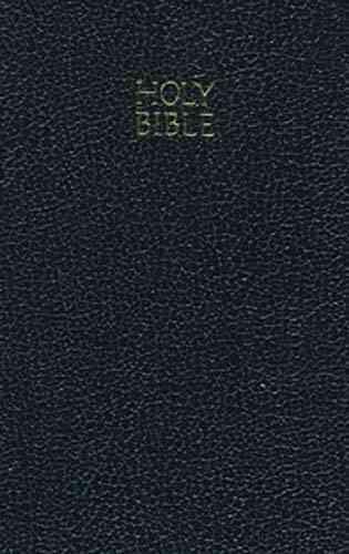 KJV Vest Pocket New Testament: Holy Bible; Black Leather; Vest Pocket; Red Letter Edition (Paperback)