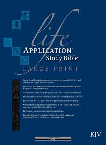Life Application Study Bible: King James Version, Black Bonded Leather, Indexed (Paperback)