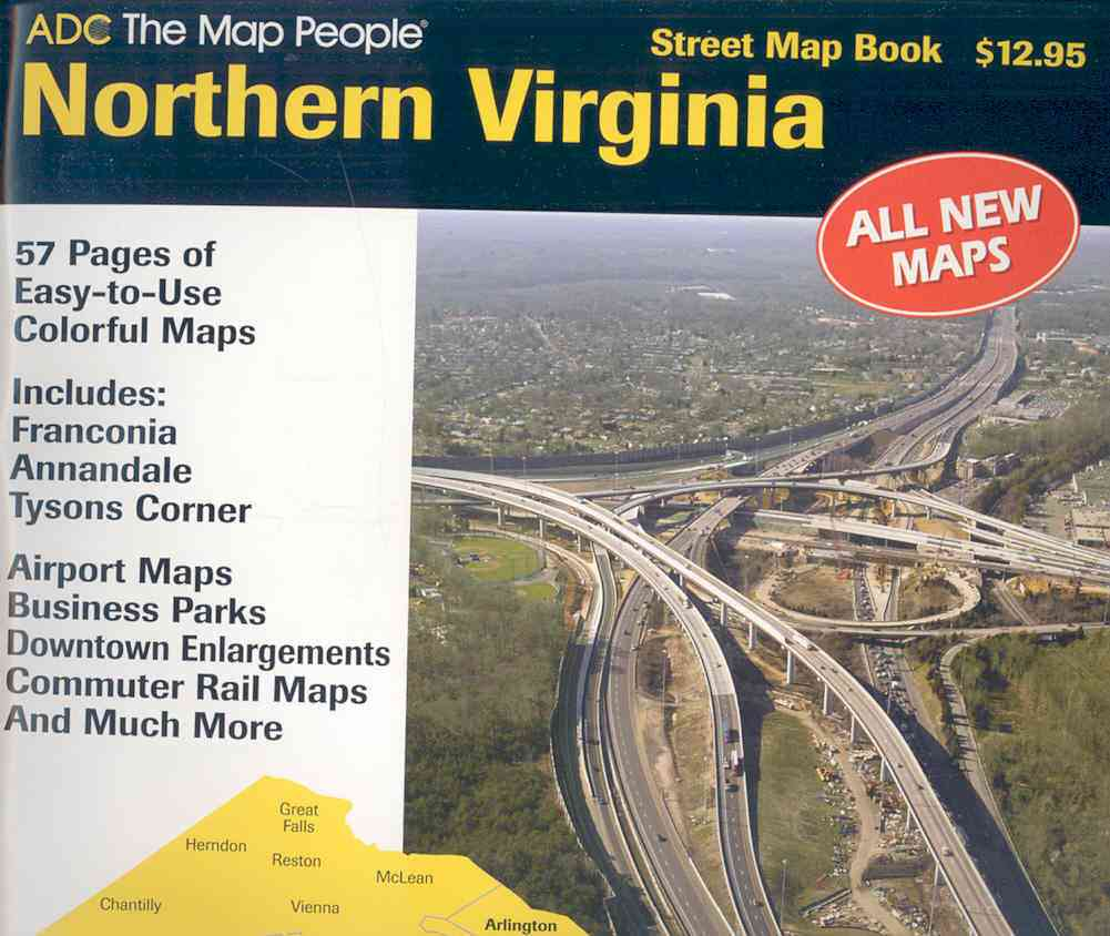 ADC the Map People 2007 Northern Virginia Street Map Book