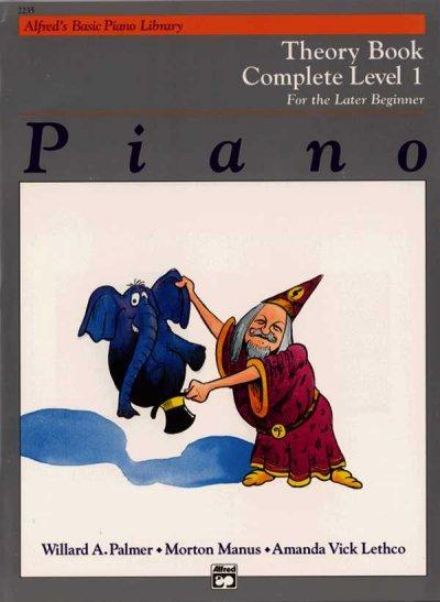 Alfred's Basic Piano Library Piano Course, Theory Book Complete Level 1: For the Later Beginner (Paperback)