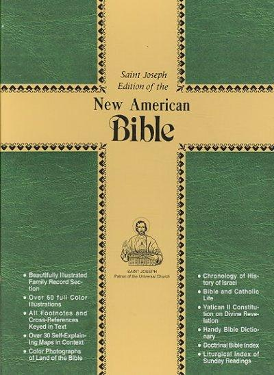 New American Bible: St Joseph Edition Burgundy Bonded Leather With a Zipper Close (Paperback)