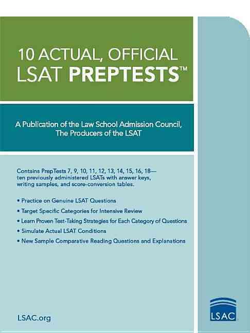 10 Actual, Official LSAT PrepTests (Paperback)