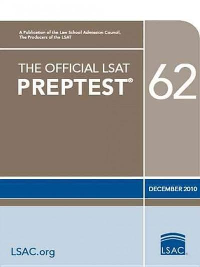 The Official Lsat Preptest 62: Dec. 2010 Lsat (Paperback)