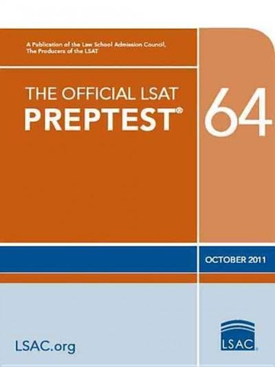 The Official LSAT Preptest 64: October 2011  (Paperback)