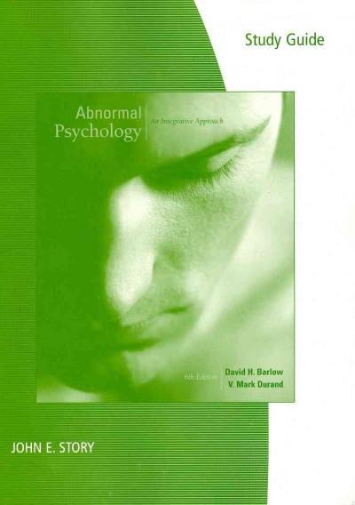 Abnormal Psychology: An Integrative Approach (Paperback)