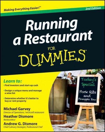 Running a Restaurant for Dummies (Paperback)