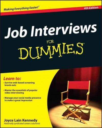 Job Interviews for Dummies (Paperback)