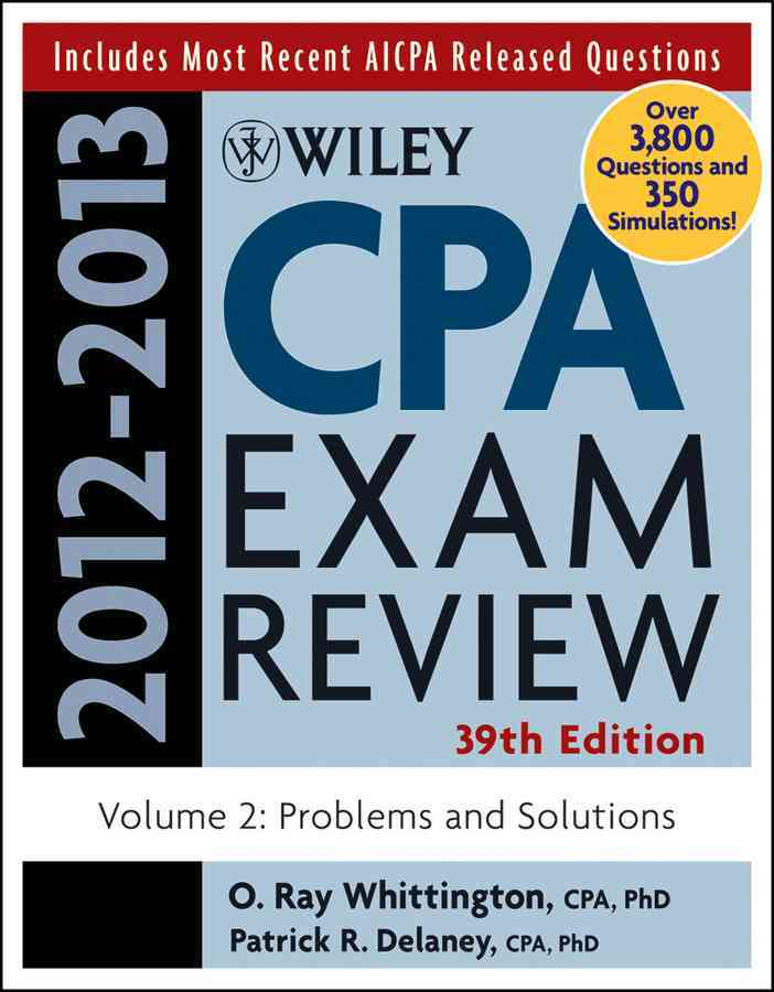Wiley CPA Exam Review 2012-2013: Problems and Solutions (Paperback)