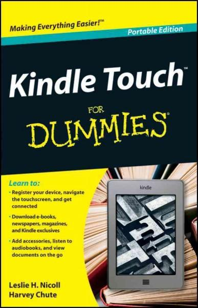 Kindle Touch for Dummies (Paperback)