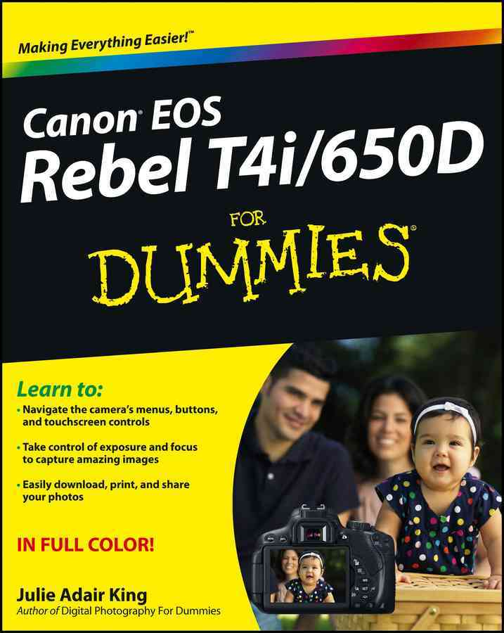 Canon EOS Rebel T4i / 650D for Dummies (Paperback)