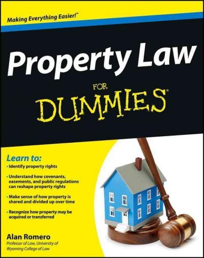 Property Law For Dummies (Paperback)