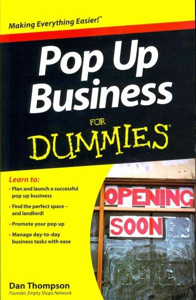 Pop Up Business for Dummies (Paperback)