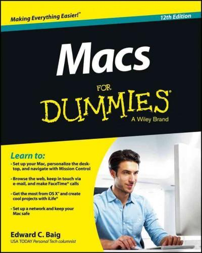 Macs for Dummies: A Wiley Brand (Paperback)
