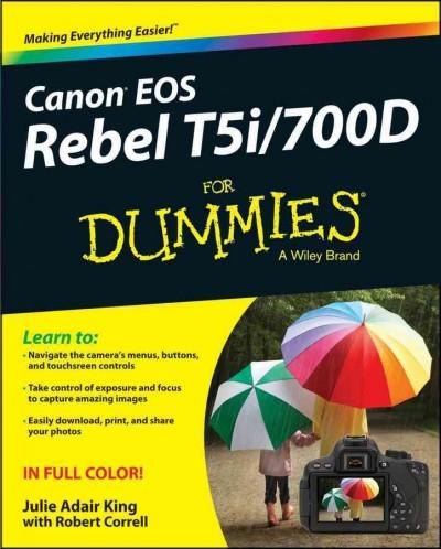 Canon EOS Rebel T5i / 700D for Dummies (Paperback)