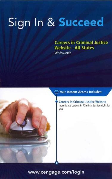 Careers in Criminal Justice Web Site Access Code: All States (Other merchandise)