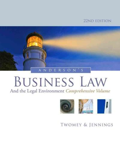 Anderson's Business Law and the Legal Environment (Hardcover) - Thumbnail 0