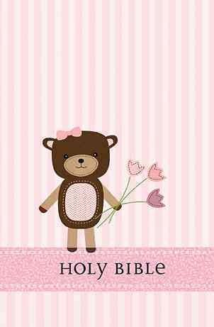 Holy Bible: International Children's Bible, Baby Bear, Girl (Hardcover)