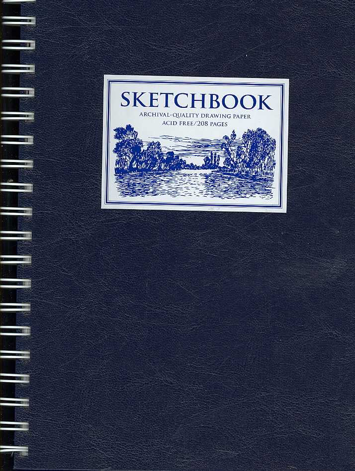 Sketchbook: Archival-quality Drawing Paper Blue Medium, Acid Free (Notebook / blank book)
