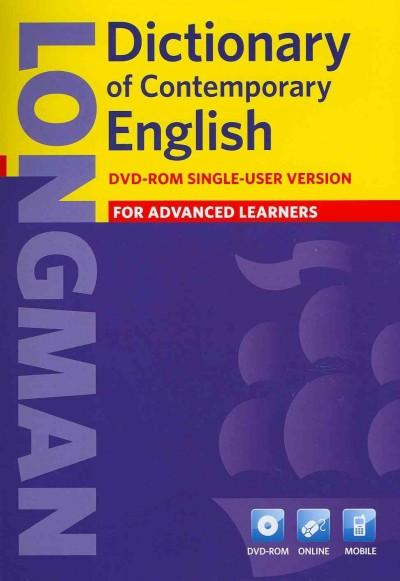 Longman Dictionary of Contemporary English: For Advanced Learners, Single-user Version (DVD-ROM)