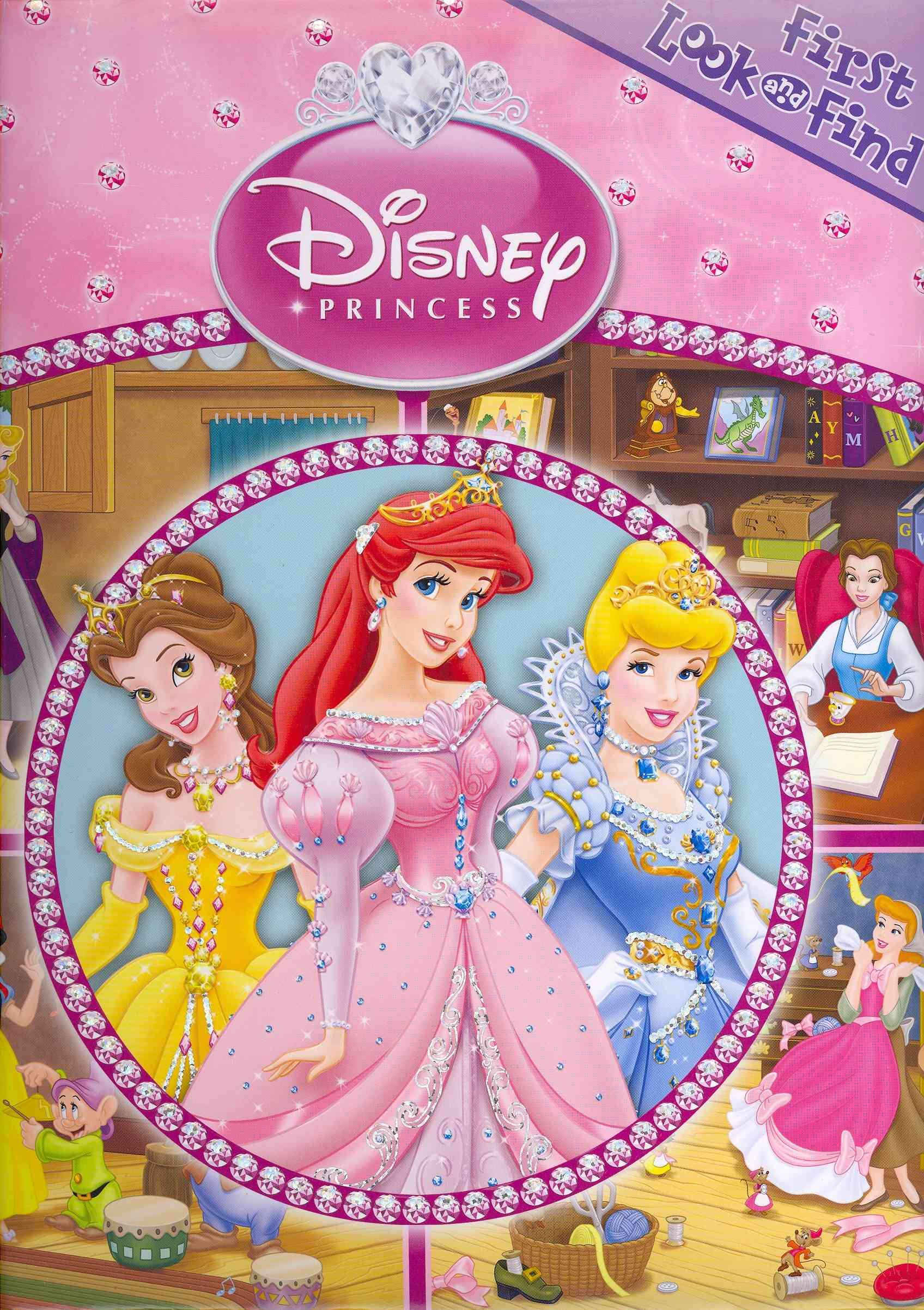 Disney Princess First Look and Find (Board book)