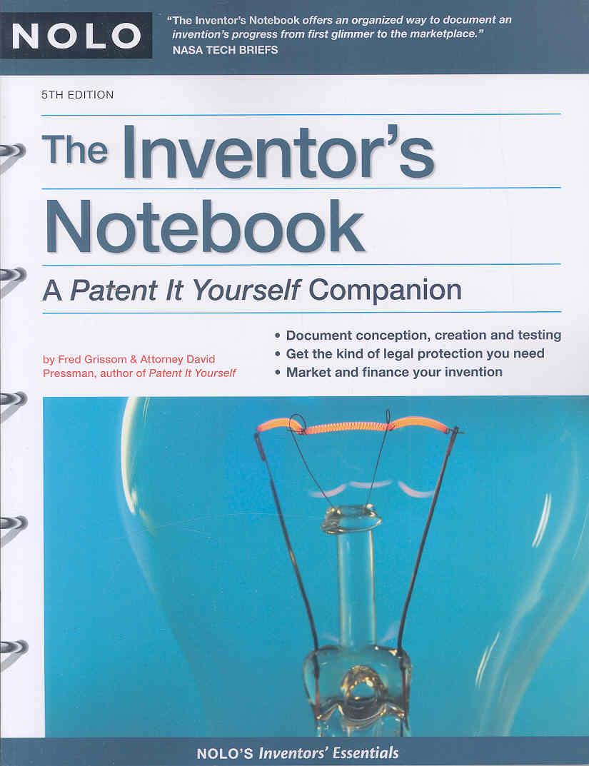 """Inventor's Notebook: A """"Patent It Yourself"""" Companion (Paperback)"""