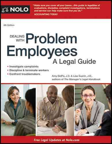 Dealing With Problem Employees: A Legal Guide (Paperback)