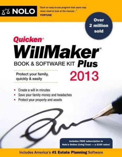 Quicken Willmaker Plus 2013: Book & Software Kit