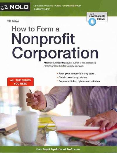 How to Form a Nonprofit Corporation (Paperback)