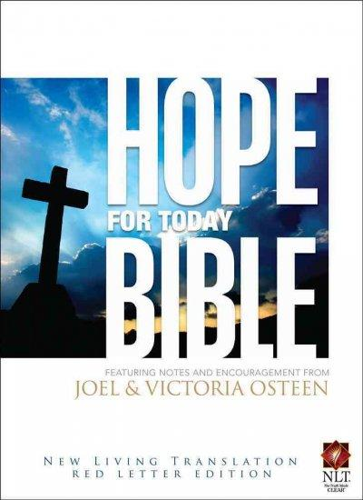 Hope for Today Bible: New Living Translation, Red Letter Edition, Gilded Page Edges, Black (Paperback)