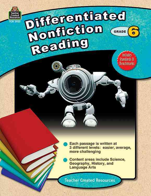 Differentiated Nonfiction Reading, Grade 6 (Paperback)