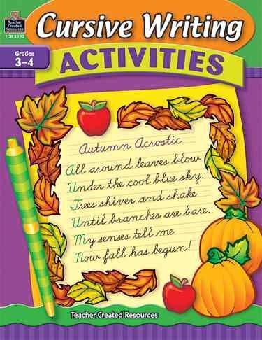 Cursive Writing Activities, Grades 3-4 (Paperback)