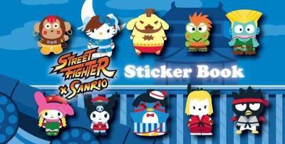 Street Fighter X Sanrio Sticker Book (Paperback)