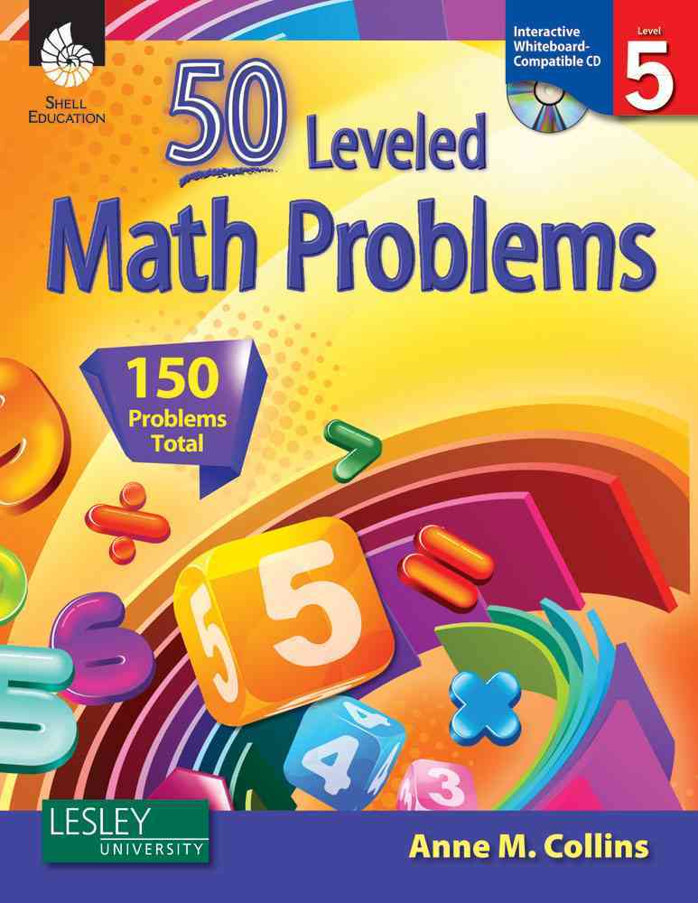 50 Leveled Math Problems, Level 5: 150 Problems Total, Interactive Whiteboard Compatible