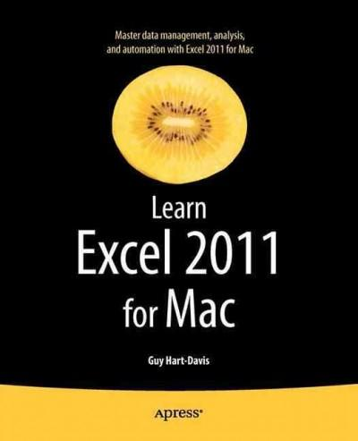 Learn Excel 2011 for MAC (Paperback)