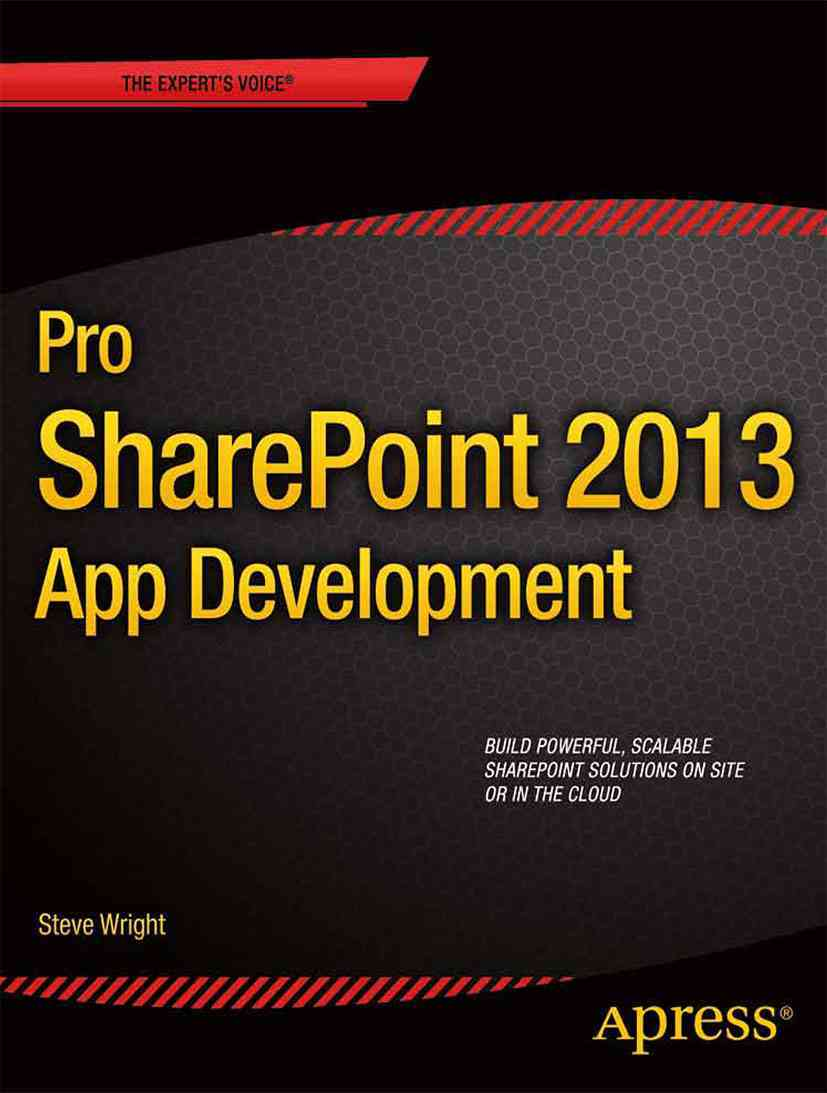 Pro Sharepoint 2013 App Development (Paperback)
