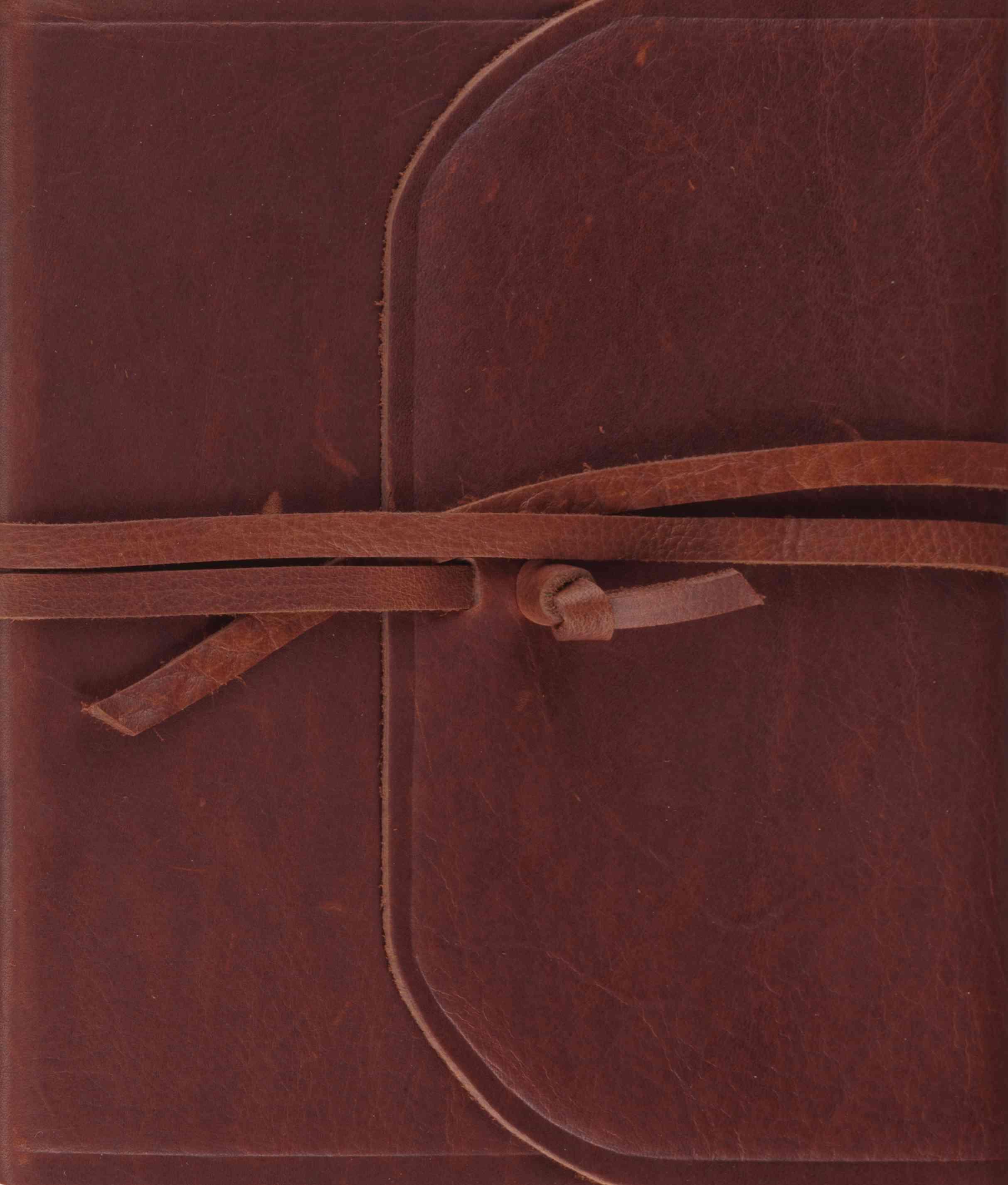 The Holy Bible: English Standard Version, Brown, Natural Leather, Single Column Journaling Bible (Paperback)
