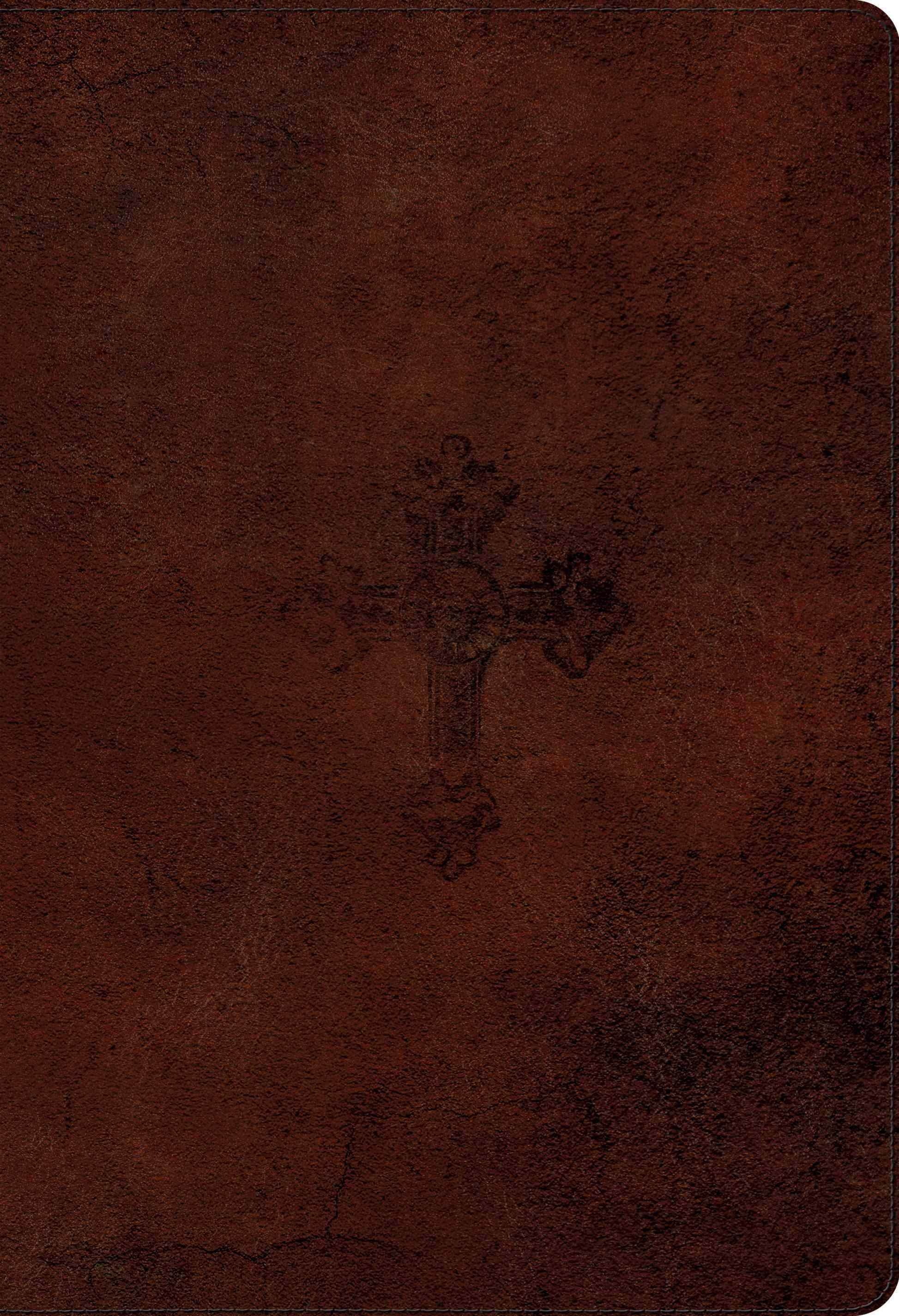 ESV Student Study Bible: English Standard Version, Walnut, Trutone, Weathered Cross Design