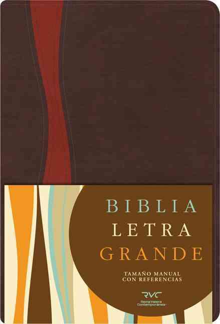 Santa Biblia: biblia letra grande tamano manual con referencias, Brown / Rust, Simulated Leather (Paperback)