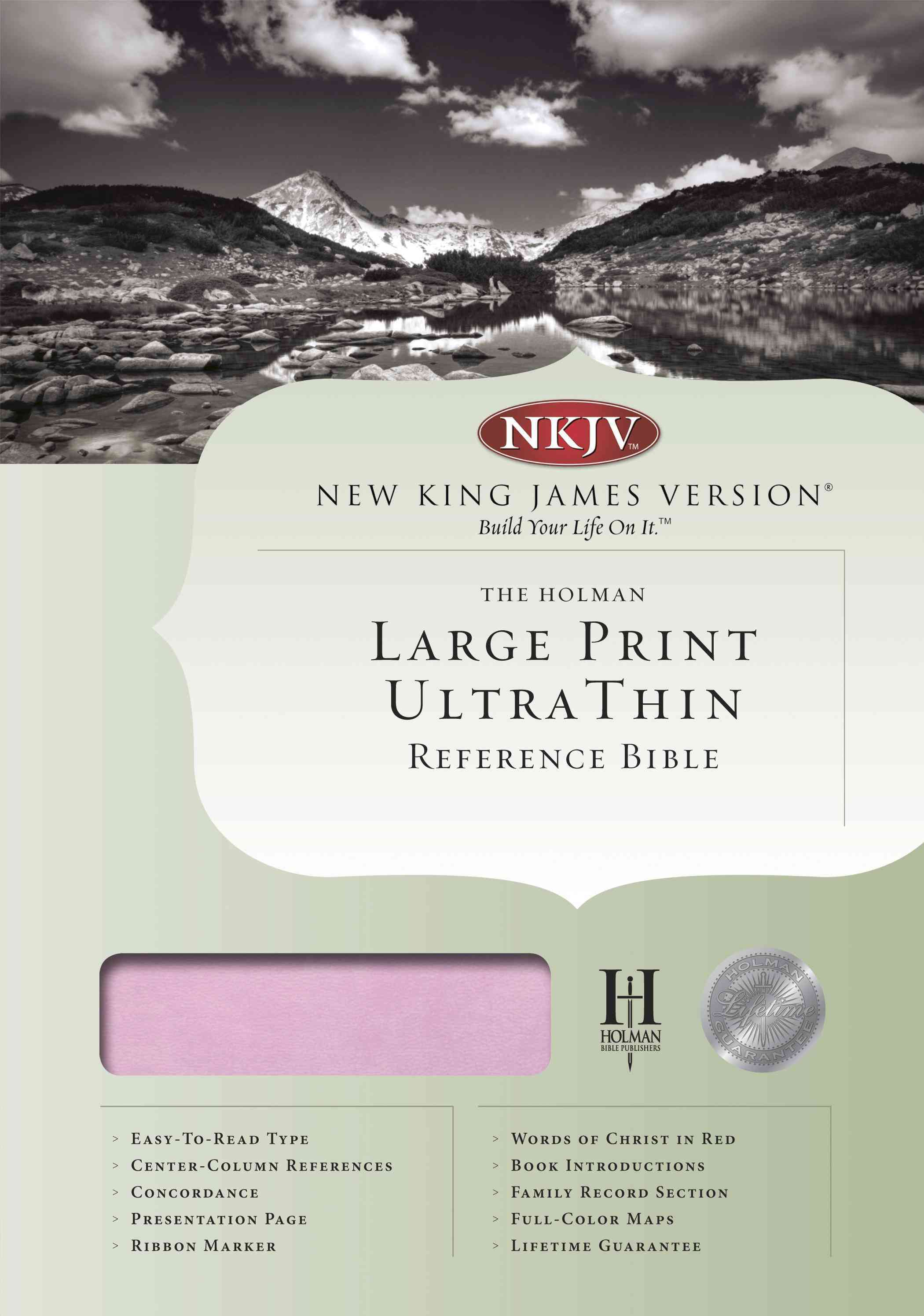 Holy Bible: New King James Version, Pink/Brown, LeatherTouch, Ultra Thin, Reference (Paperback)