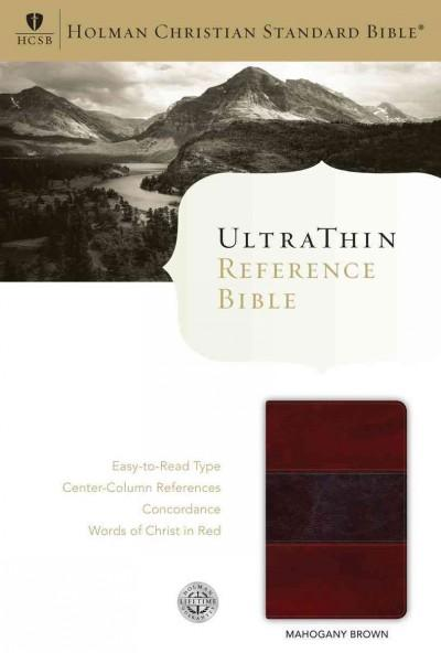 Holy Bible: Holman Christian Standard Bible, Mahogany / Brown, Leathertouch, Ultrathin Reference  (Paperback)