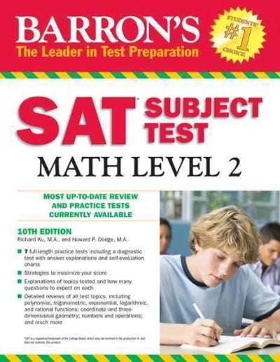 Barron's Sat Subject Test Math Level 2 (Paperback)